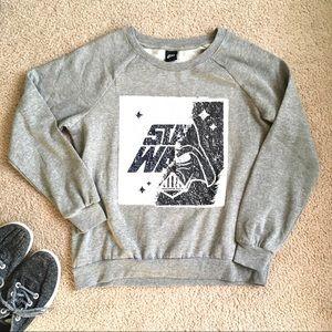 Star Wars mermaid sequin sweatshirt Darth Vader